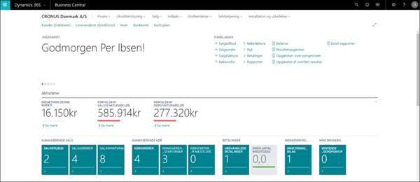 Dynamics 365 Business Central_rollecenter